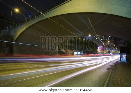 Traffic On The Move At Night