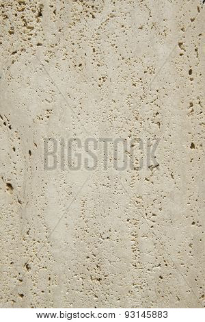 Travertine Marble Surface Detail In Vertical Format
