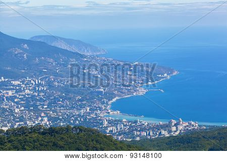 View Of Yalta From The Mountain Ah-petri, The Crimea
