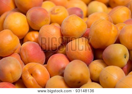 Background From A Set Of Ripe Apricots