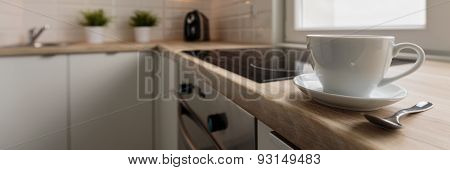 Coffee Cup On The Worktop