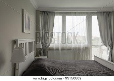 Romantic White And Gray Bedroom