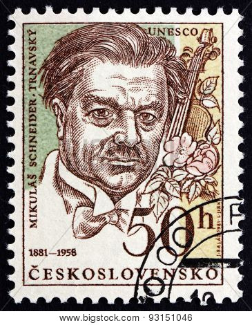 Postage Stamp Czechoslovakia 1981 Mikulas Schneider-trnavsky, Slovak Composer