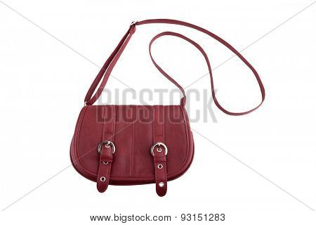 Female purse isolated on white