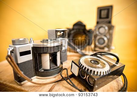 Old Analogue Photographic Cameras