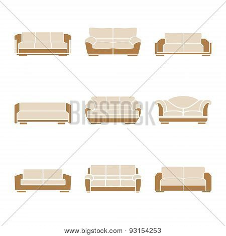Set Of Stylish Sofas