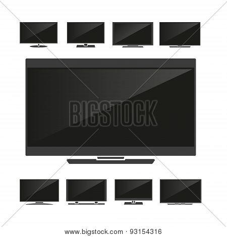 Set Of Silhouettes Tv