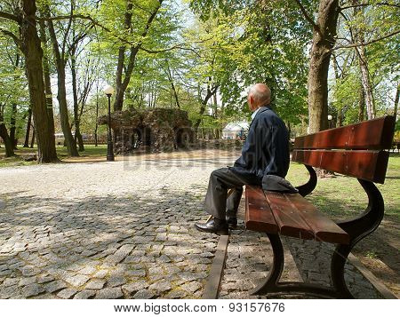 The old man in the park.