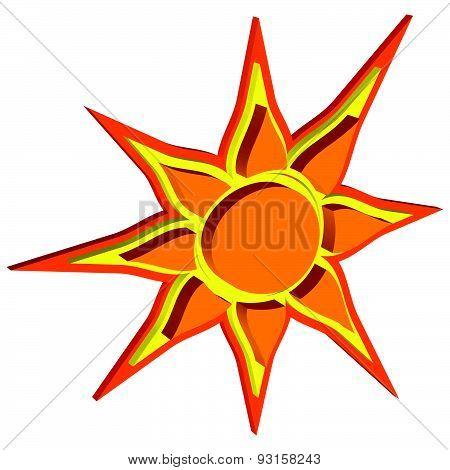 Vector Sun With A Volumetric Effect