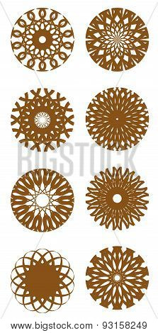 Vector Set Of Round Ornaments