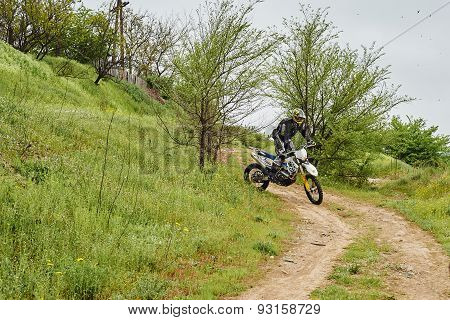 Unknown Rider Participates At Training