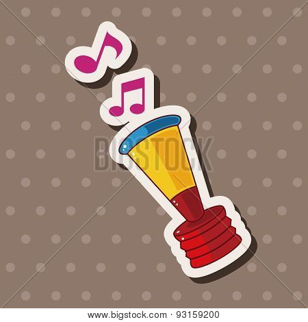 Birthday Horn Theme Elements