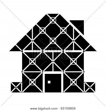 House Symbol With Framed Facade