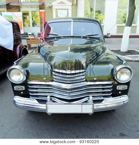 Front Of Executive Retro Car Of 1950S