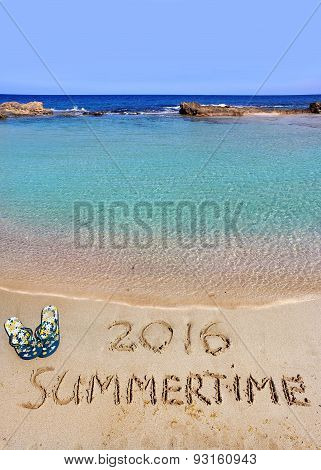 Inscription Summertime 2016 And The Sea