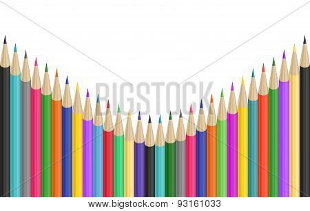 Colorful Pencils Border