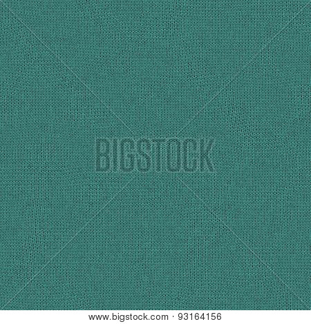 Seamless turquoise color of the year 2010 knitted wool texture for textile background