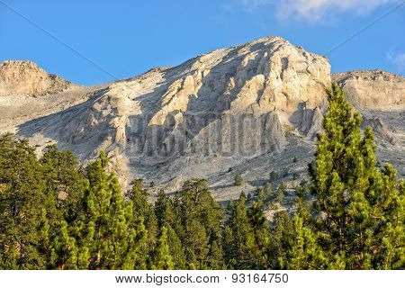 Mountain Peaks Of Olympus Ridge In Greece