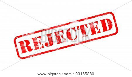 Rejected Red Old Rubber Stamp On White