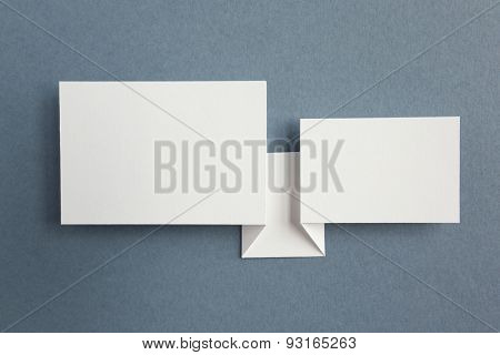 paper speech bubbles on grey background