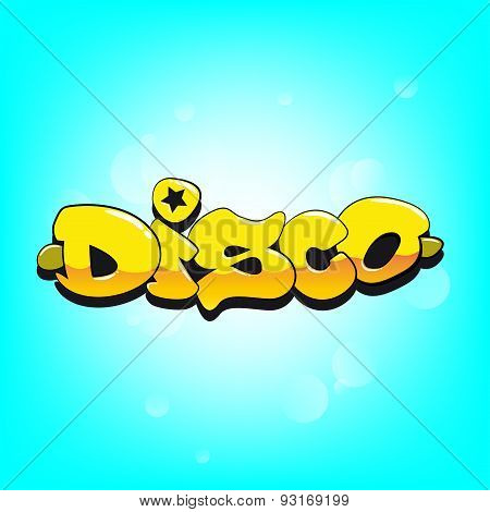 Disco graffiti vector decoration