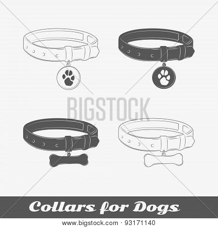 Silhouette Collars For Dogs