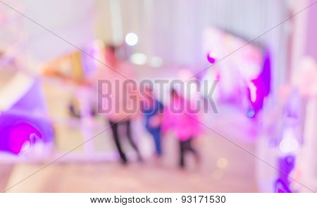 Blurred Motion Of Businessmen Moving Upstairs Indoor