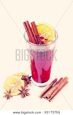 Cinnamon with orange and mulled wine