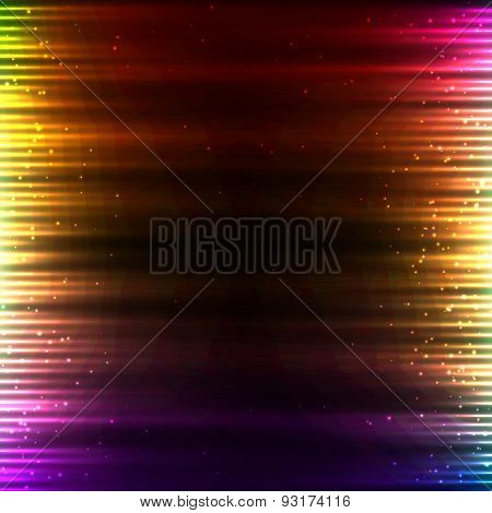 Pink shining technology lights sound background