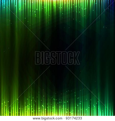 Green shining equalizer vector abstract background