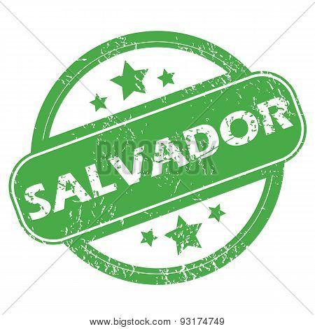 Salvador green stamp