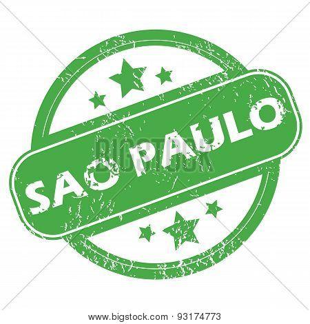Sao Paulo green stamp