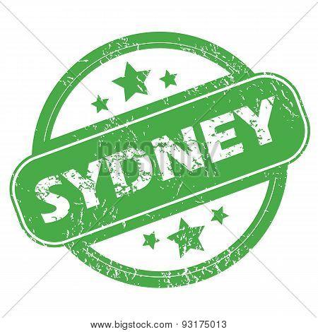Sydney green stamp