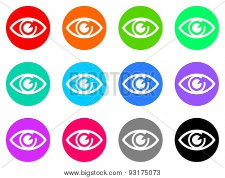 eye vector web icons set