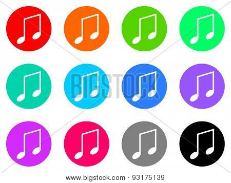 tune vector web icons set
