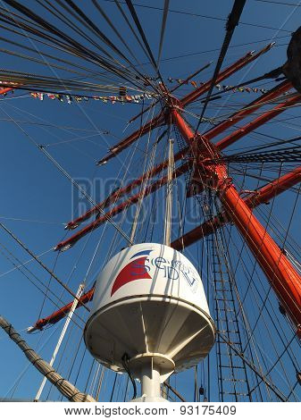 The mast of sailing ship