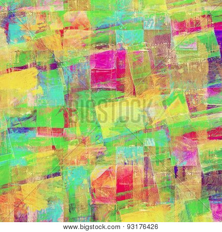 Old-style background, aging texture. With different color patterns: yellow (beige); blue; green; purple (violet)