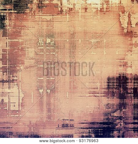 Grunge texture, distressed background. With different color patterns: yellow (beige); brown; black; purple (violet)