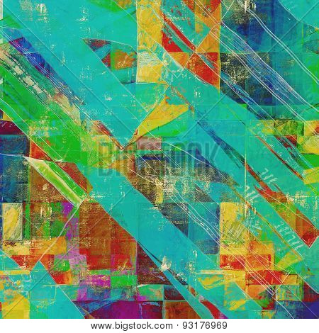Grunge background or texture for your design. With different color patterns: yellow (beige); blue; green; pink