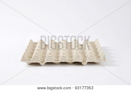 square egg carton for carrying and transporting whole eggs