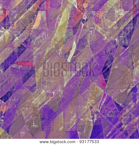 Old grunge textured background. With different color patterns: brown; gray; purple (violet); pink