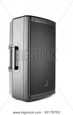 professional audio speaker PA, isolated on white