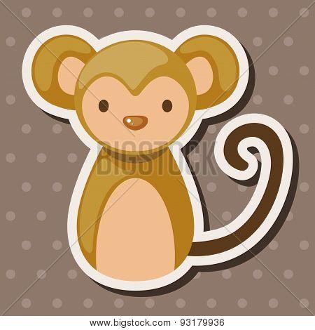 Chinese Zodiac Monkey Theme Elements