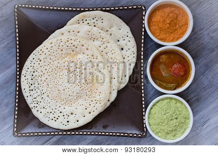 South Indian food - Set of three dosas