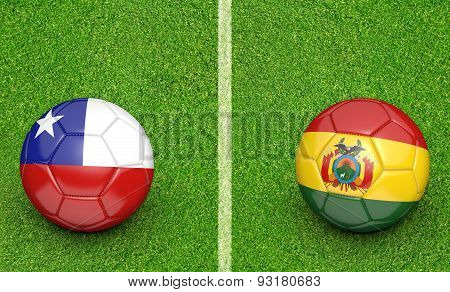 America football tournament, teams Chile vs Bolivia