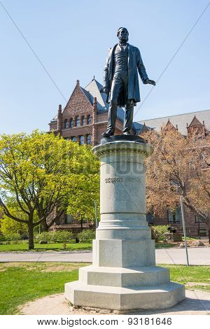 Queen's Park Statues: George Brown