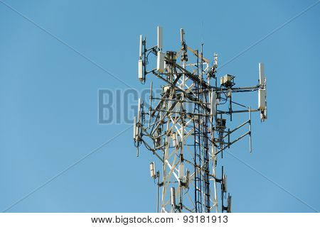 Telecommunication Tower in City