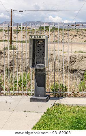Empty Phone Booth