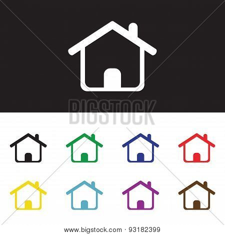 Home Sign Icon.