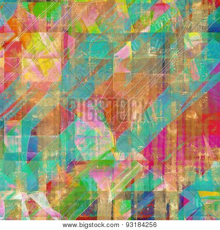Dirty and weathered old textured background. With different color patterns: brown; blue; green; red (orange); pink